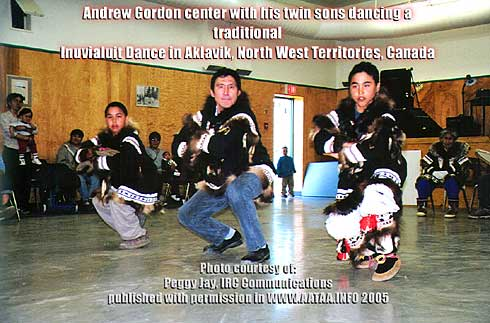 Traditonal Inuvialuit dance performed by Andrew Gordon and his sons in Aklavik, NWT